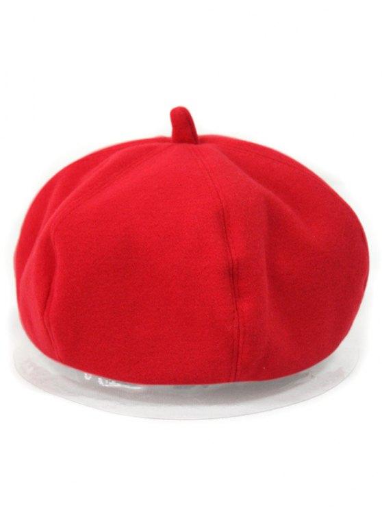 Monotone Felt Beret - Rouge