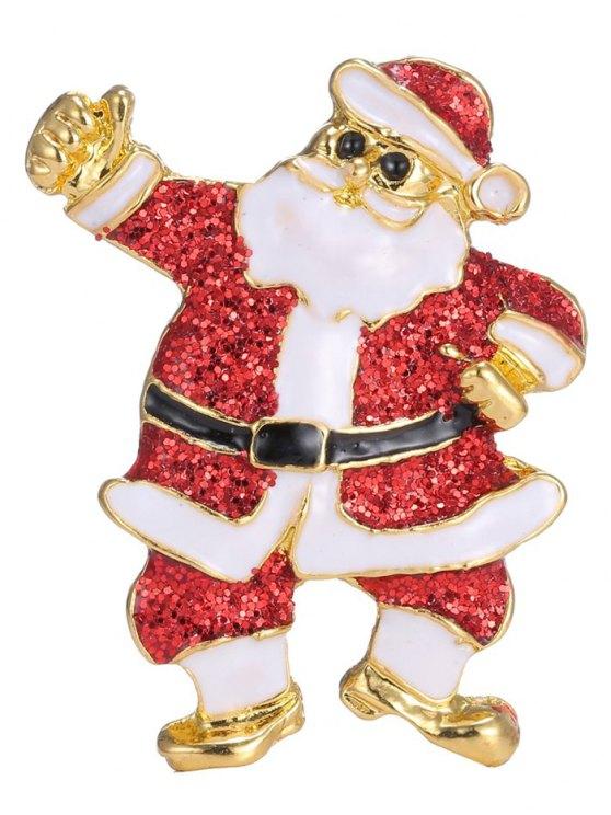 Alloy Sequins Santa Christmas Embellished Brooch -   Mobile
