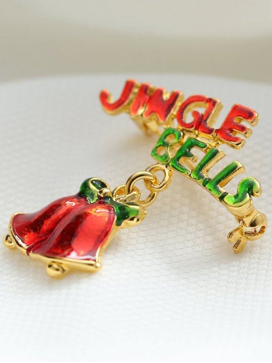Alloy Bows Christmas Jingle Bells Brooch -   Mobile
