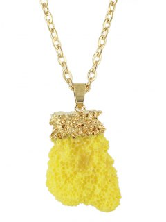 Natural Crystal Necklace - Yellow