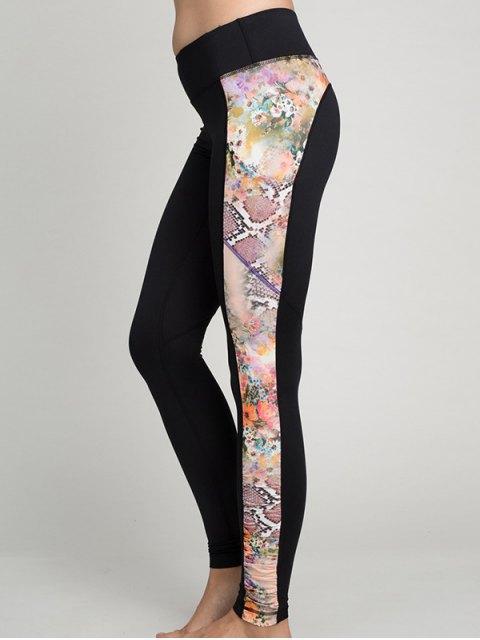 women's Python Print Panel Gym Leggings - ORANGEPINK XL Mobile