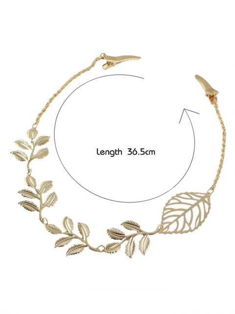 outfit Embellished Leaf Hair Accessory - GOLDEN  Mobile