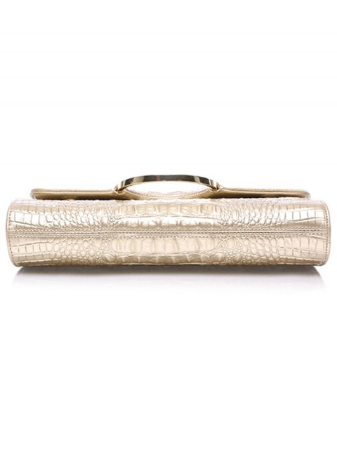 sale Rhinestones Embossing Magnetic Closure Evening Bag - CHAMPAGNE GOLD  Mobile