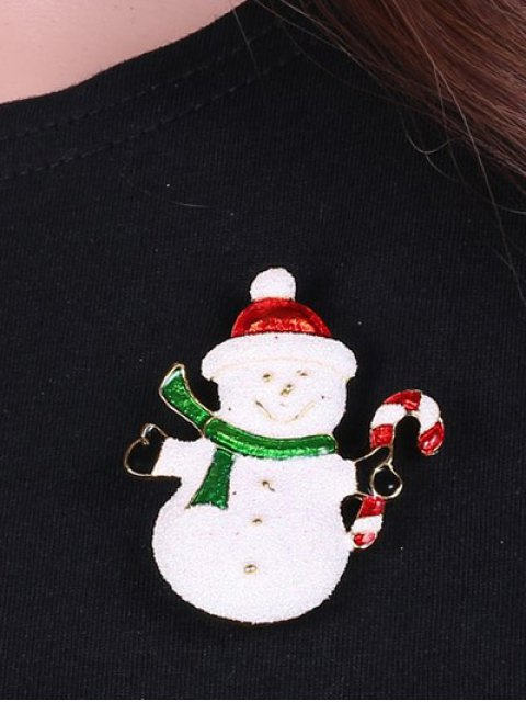 women Alloy Christmas Candy Cane Snowman Brooch -   Mobile