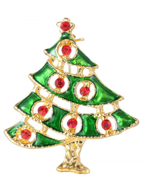 women's Rhinestone Pentagram Alloy Christmas Tree Brooch -   Mobile