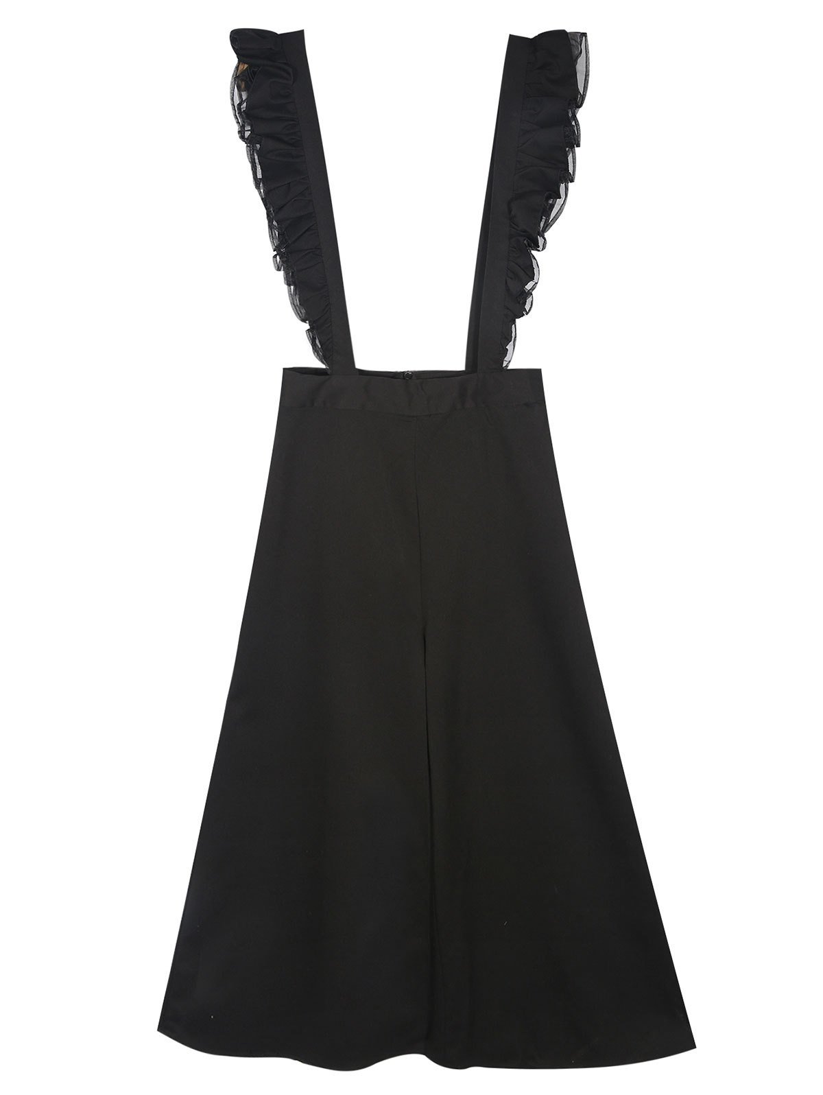 Flounced Culotte Overalls