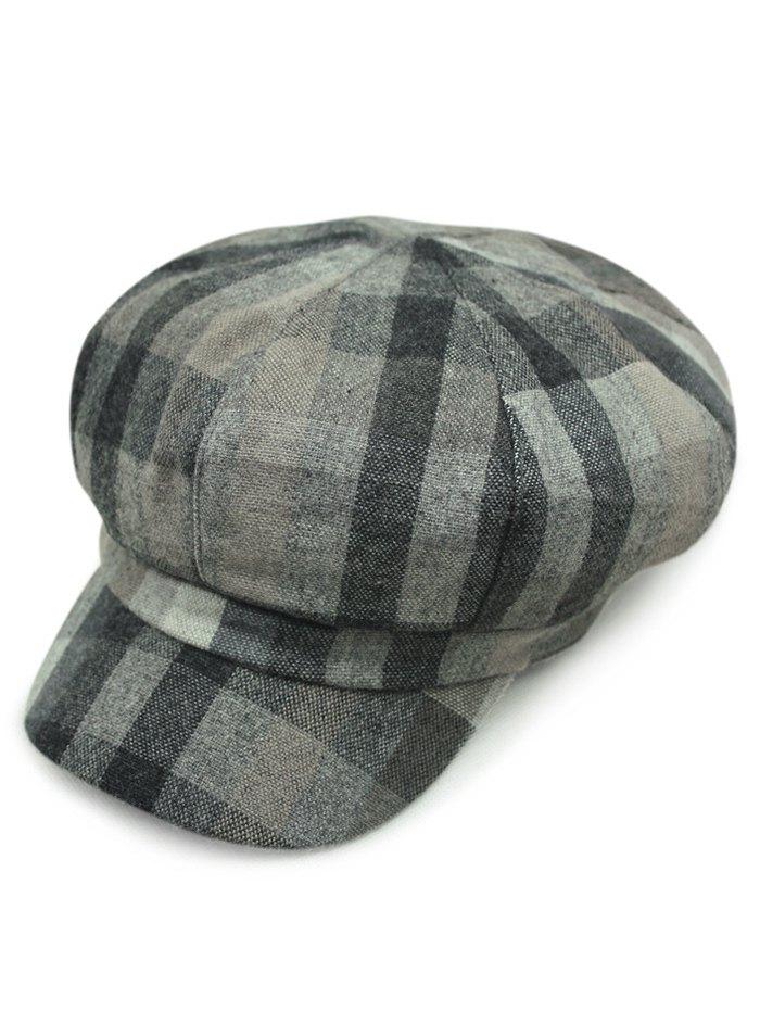 Autumn Hazy Tartan Newsboy Hat