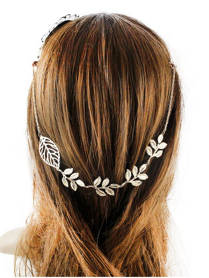 Embellished Leaf Hair Accessory
