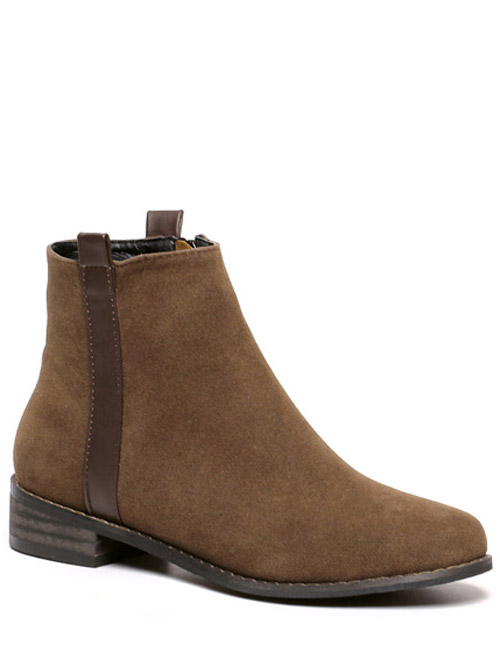 Rounde Toe Suede Boots 196175502