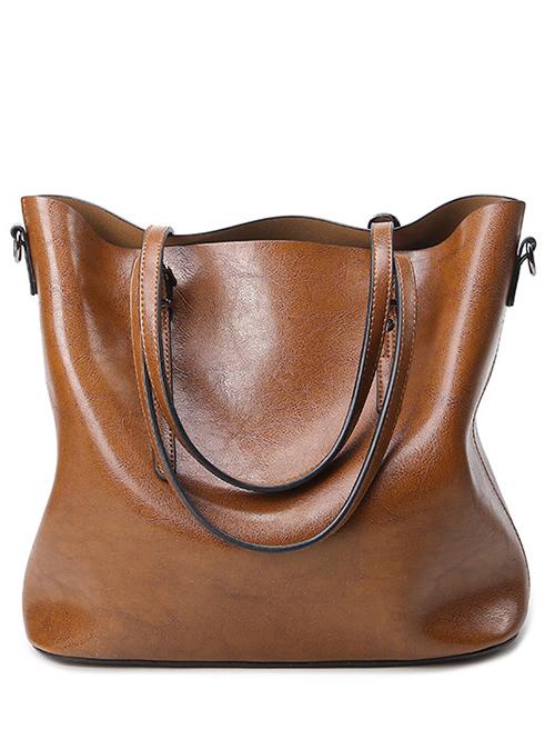 Buckles PU Leather Shoulder Bag