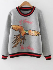 Sequins Embroidered Sweatshirt