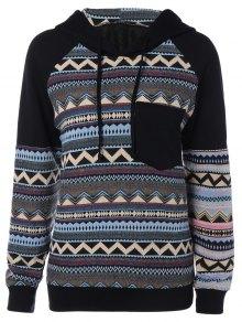 Chevron Stripe Pullover Hoodie