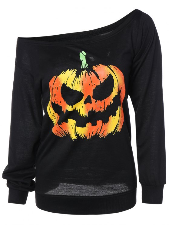 online Pumpkin Jack Lantern Halloween Sweatshirt - BLACK L