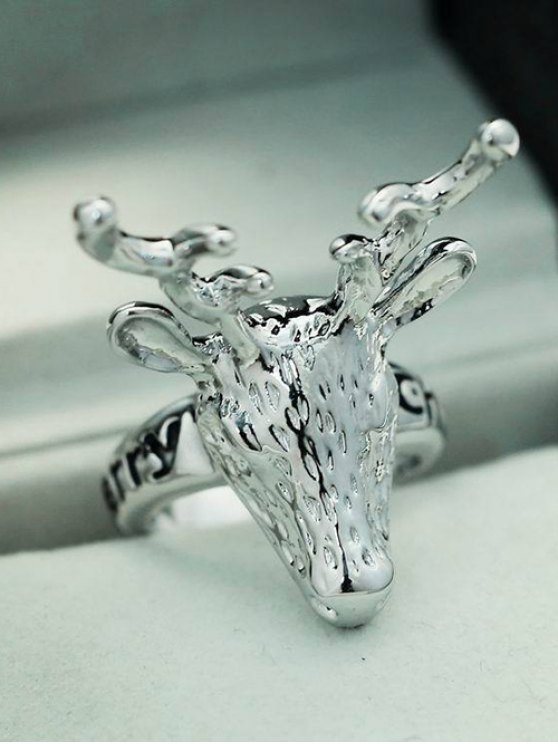 Christmas Deer Ring - SILVER  Mobile