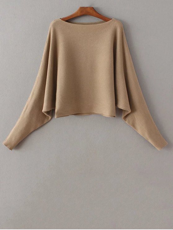 shops Bat-Wing Sleeve Sweater - CAMEL ONE SIZE