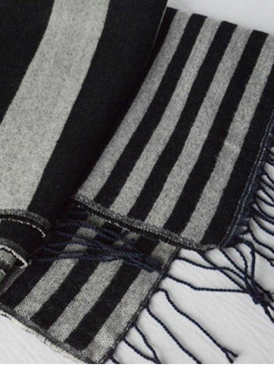American Flag Pattern Tassel Shawl Scarf -   Mobile