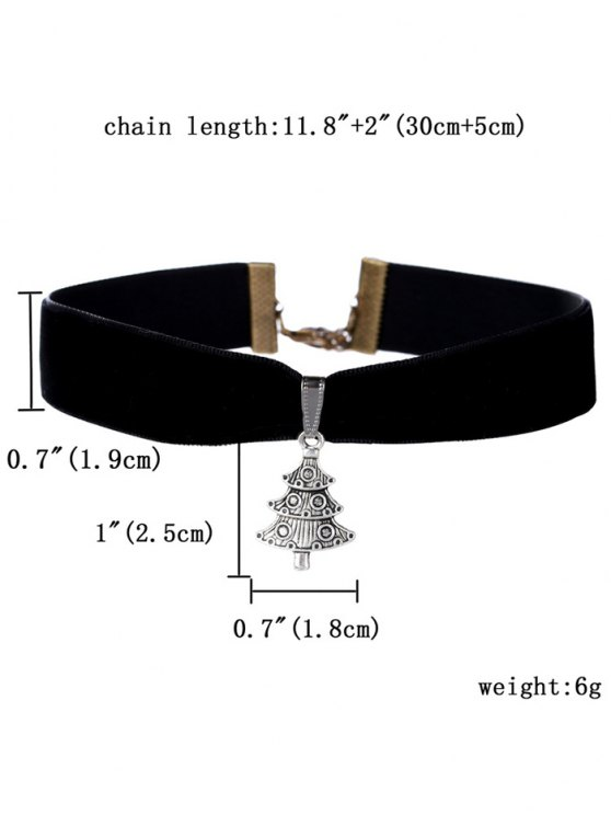 Christmas Tree Necklace - BLACK  Mobile