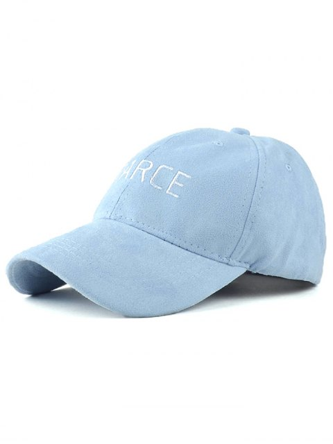 best Faux Suede Letters Embroidery Baseball Hat - BLUE  Mobile