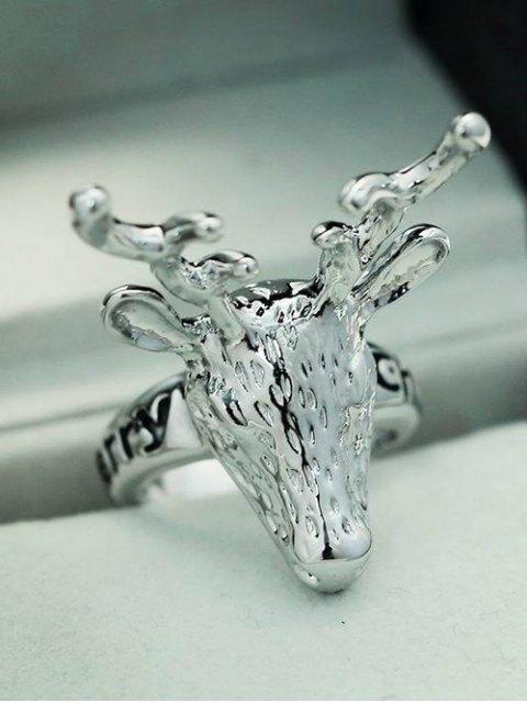 women Christmas Deer Ring - SILVER  Mobile