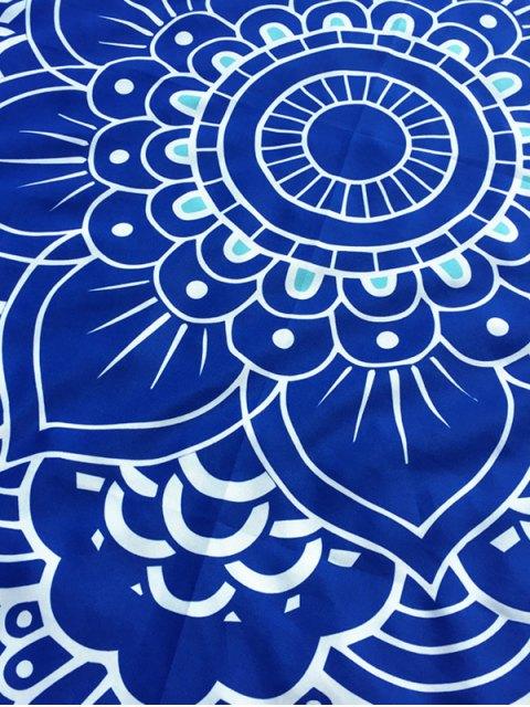 shop Lotus Flower Round Beach Throw - BLUE ONE SIZE Mobile