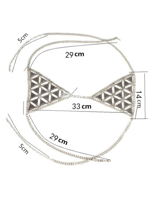 fashion Bra Triangle Body Chain - SILVER  Mobile