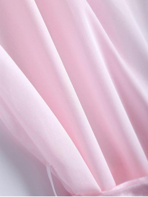 shops Belted Lace Insert Sleepwear - PINK M Mobile