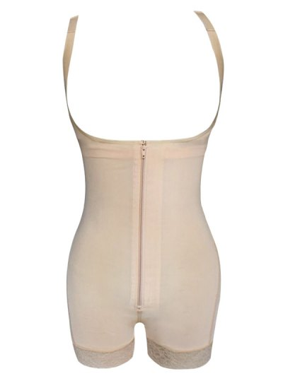 Straps Back Backless Zip Up Full Body Corset - COMPLEXION 2XL Mobile