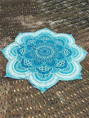 tapesserie de plage round à motif de lotus