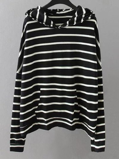Pocket Striped Sweatshirt