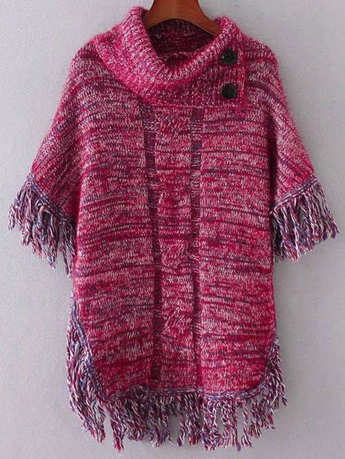 Tassel Buttoned Cloak Sweater