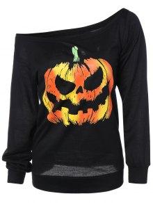 Buy Pumpkin Jack Lantern Halloween Sweatshirt - BLACK M