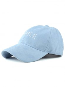 Faux Suede Letters Embroidery Baseball Hat - Blue