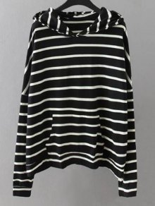 Pockets Striped Sweatshirt
