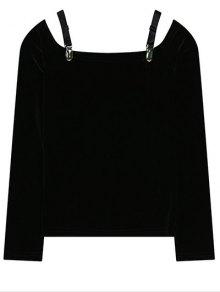 Cold Shoulder Pleuche T-Shirt