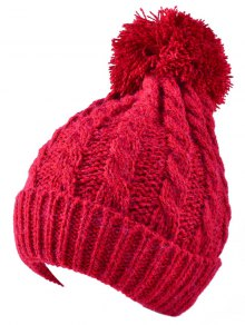 Buy Hemp Flowers Flanging Knit Hat RED