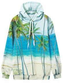 Coconut Palm Print Hoodie