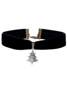 Christmas Tree Necklace - Black