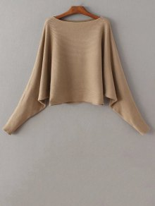 Bat-Wing Sleeve Sweater - Camel