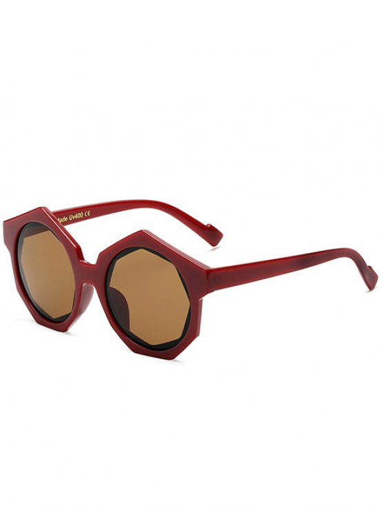 Gafas de sol de marco poligonales - Vino Rojo