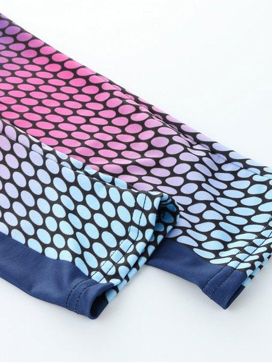 High Waist Print Skinny Gym Leggings - COLORMIX M Mobile