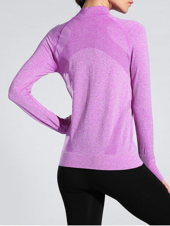 Glove Sleeve Sports Jacket - LIGHT PURPLE M Mobile