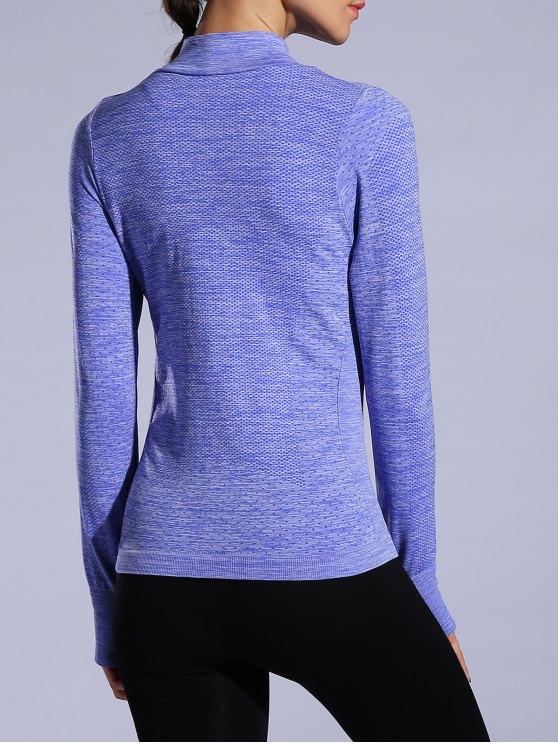 Glove Sleeve Breathable Sports Jacket - BLUISH VIOLET L Mobile