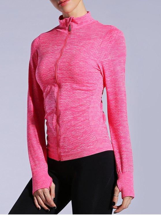 Guante transpirable chaqueta de manga Deportes - Sandia Roja L