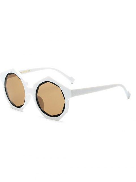 fancy Polygonal Frame Sunglasses - WHITE  Mobile