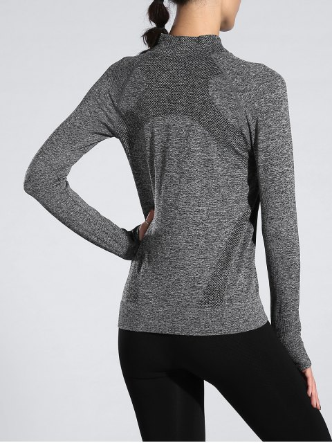 hot Glove Sleeve Sports Jacket - GRAY M Mobile