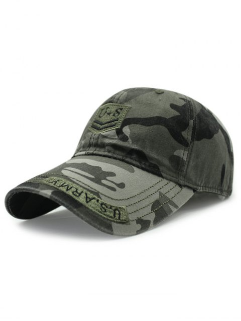 buy USA Shield Embroidery Camouflage Baseball Hat - ARMY GREEN  Mobile