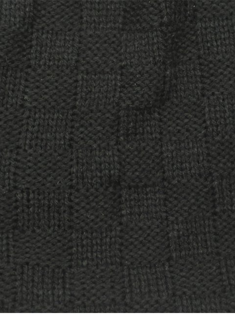 women Plaid Weaving Double-Deck Knit Beanie - CADETBLUE  Mobile