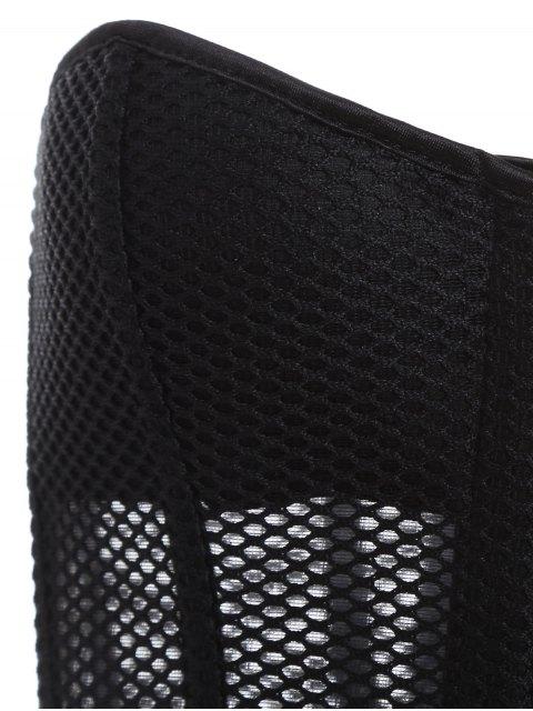 womens Lace Up Hollow Out Corset - BLACK L Mobile