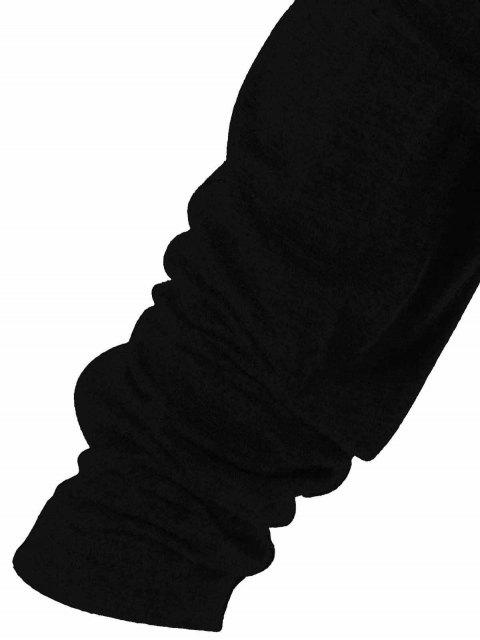 latest Draped Hoodie - BLACK M Mobile