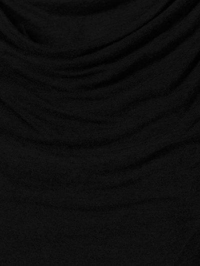 Draped Hoodie - BLACK XL Mobile